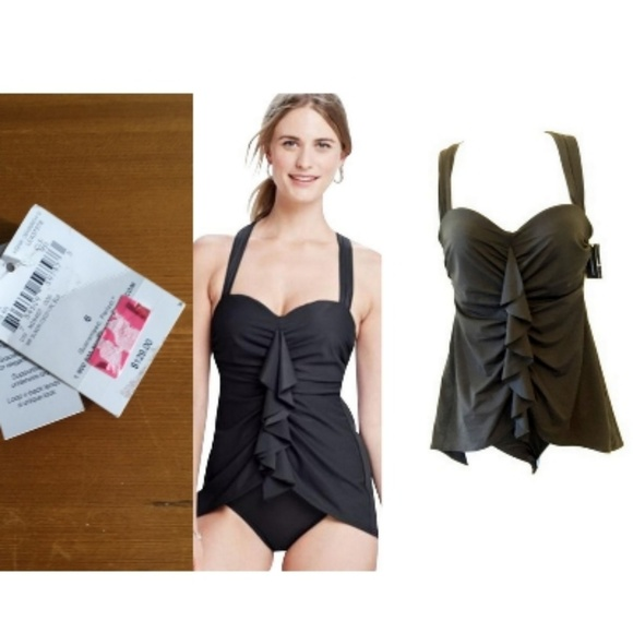 biggest discount innovative design new high quality Black Slender 1 Piece New One-piece Bathing Suit 6 NWT